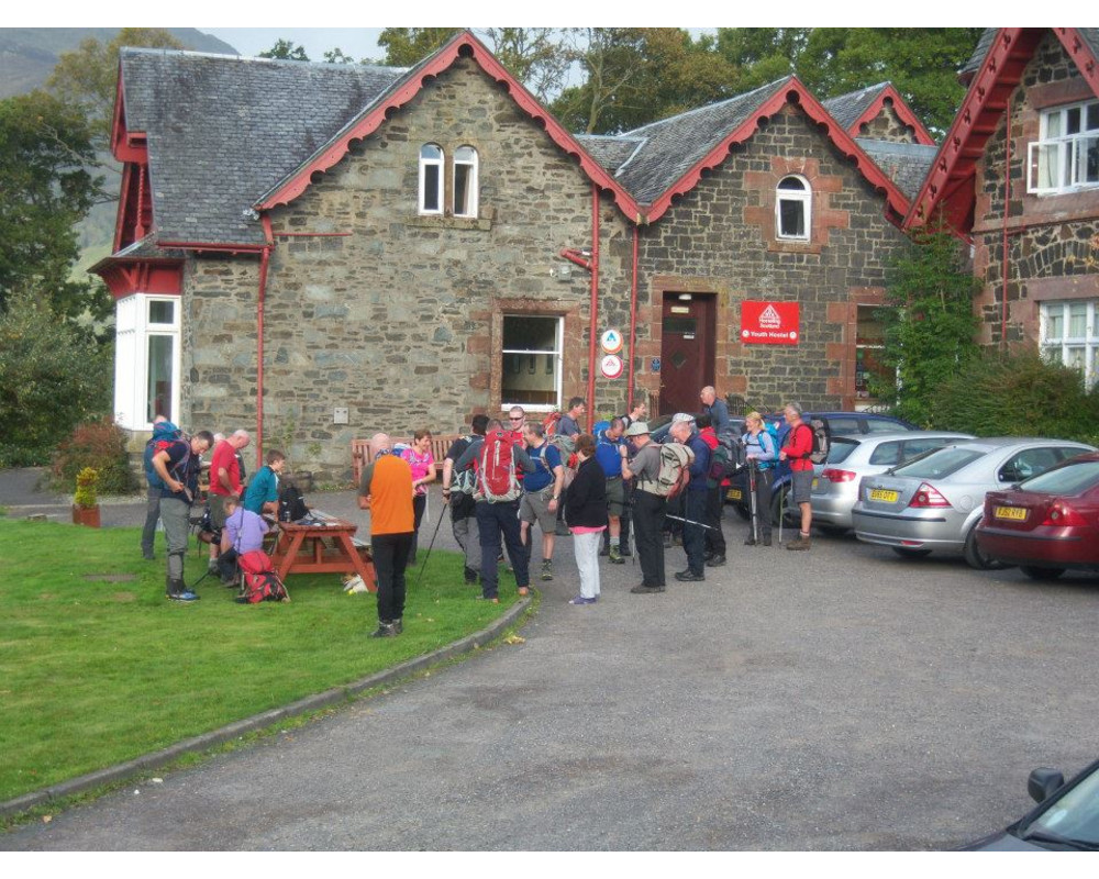 Rowardennan YHA, about to set off for Ben Lomond