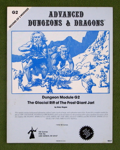 Image for The Glacial Rift of the Frost Giant Jarl (AD&D Module G2) - 2ND PRINT
