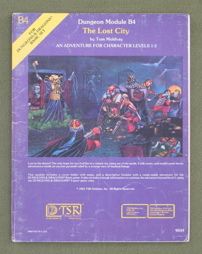 Image for The Lost City (D&D module B4) - PLAY COPY