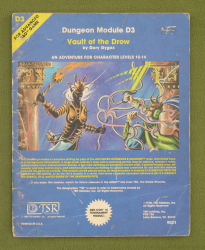 Image for Vault of the Drow (AD&D Module D3) - PLAY COPY