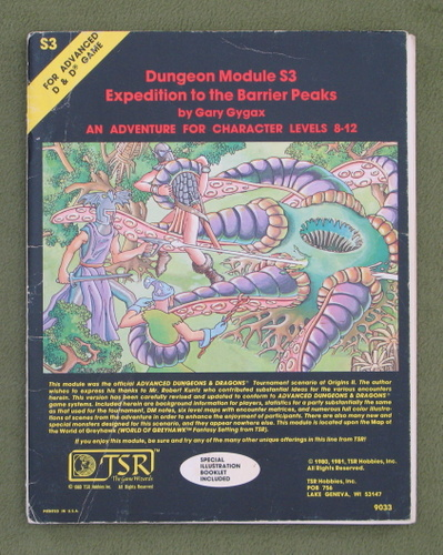 Image for Expedition to the Barrier Peaks (Advanced Dungeons & Dragons Module S3)