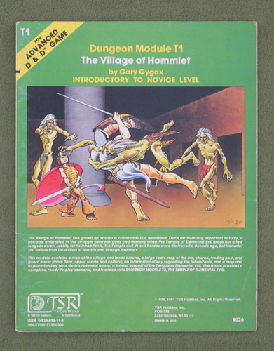 Image for The Village of Hommlet (Advanced Dungeons & Dragons Module T1)