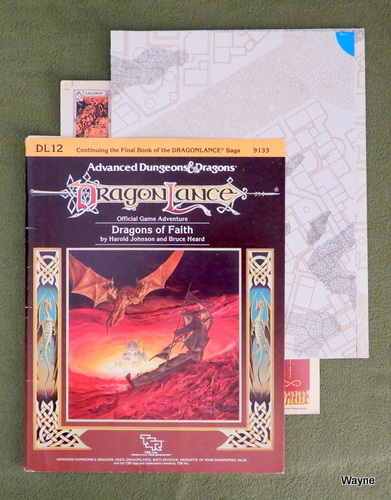 Image for Dragons of Faith (AD&D: Dragonlance) - NO COUNTERS