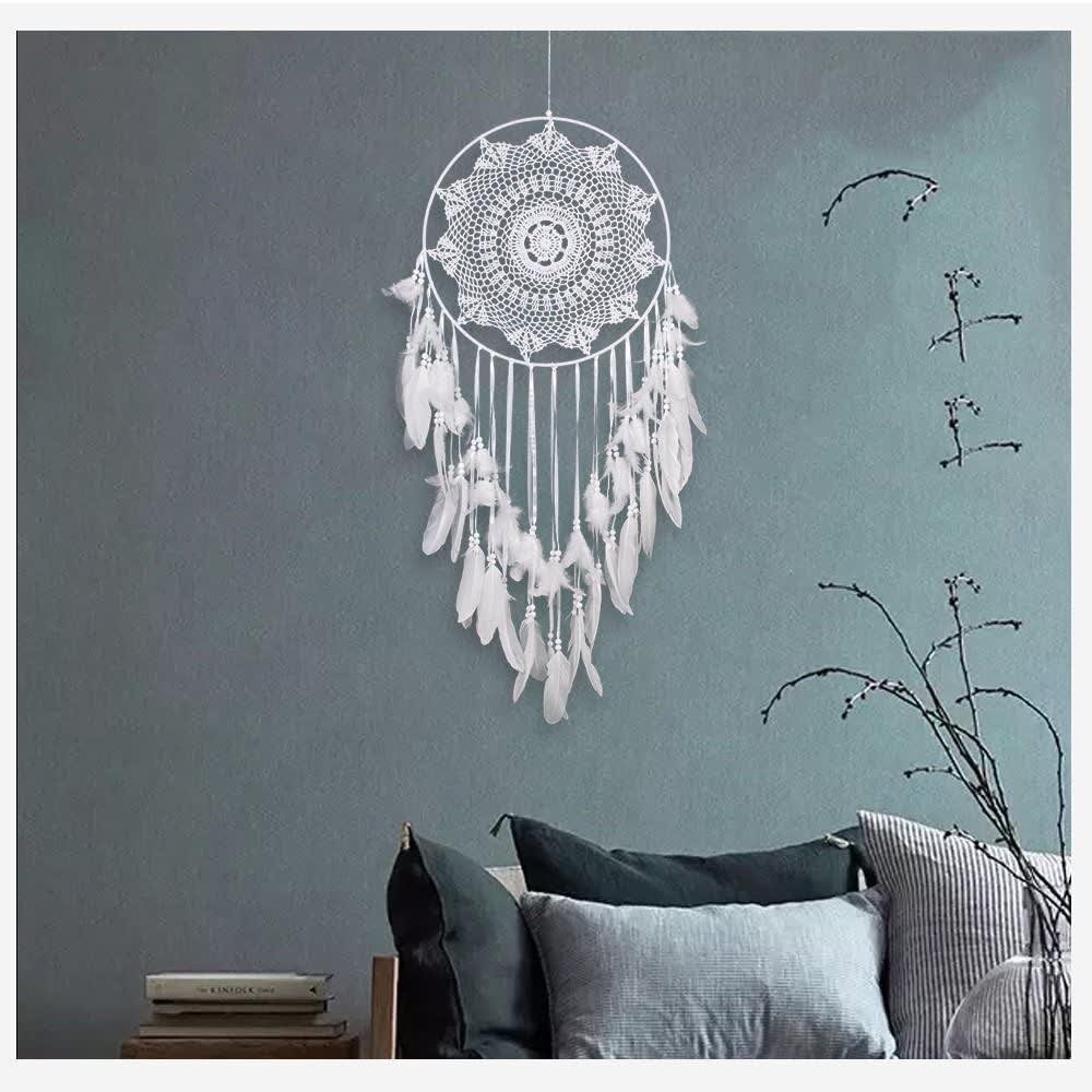 Atrapador de sueños grande de estilo boho para decorar la pared