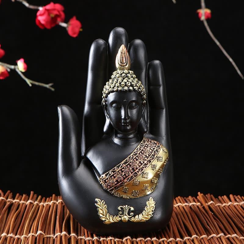 Estatua de Buda para decoración del hogar, escultura de Buda de Tailandia, resina verde hecha a mano, figurita de meditación de Fengshui hindú budista