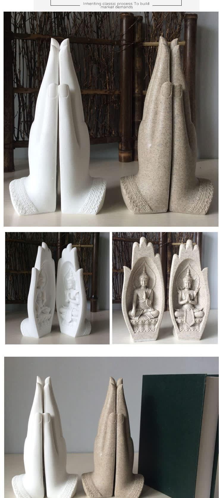 Estatua de Buda para decoración del hogar, figurita de monje, Tathagata, Yoga, Fengshui, India, 2 uds.