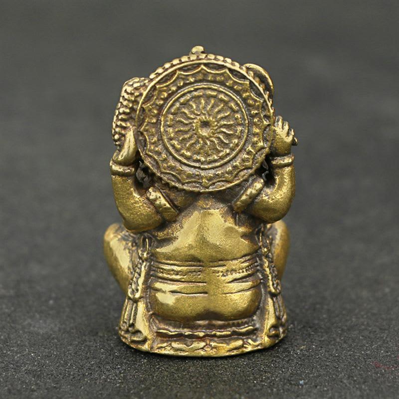 Clásico de cobre sólido Ganesha Buda estatuilla decoración hecho a mano elefante estatua de Dios Buda escultura de artesanía