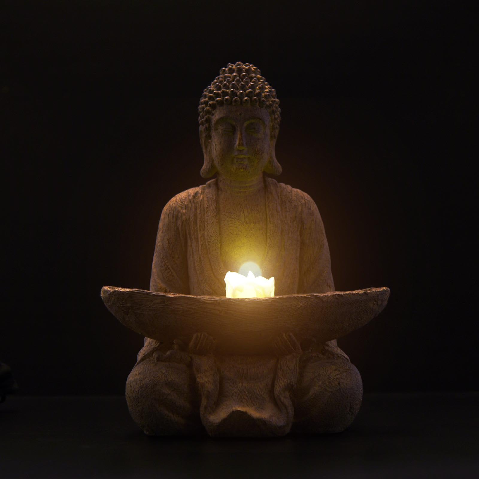 Goodeco-estatua de Buda meditador para exteriores, escultura de Buda Zen para decoración de la habitación del hogar, Patio, Jardin, Buda o nombre