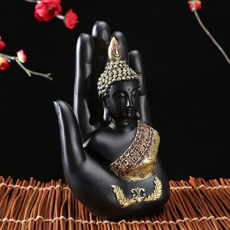 Estatua de Buda de Tailandia, escultura de resina verde hecha a mano, figurita Fengshui de budismo, meditación, decoración del hogar, 2020