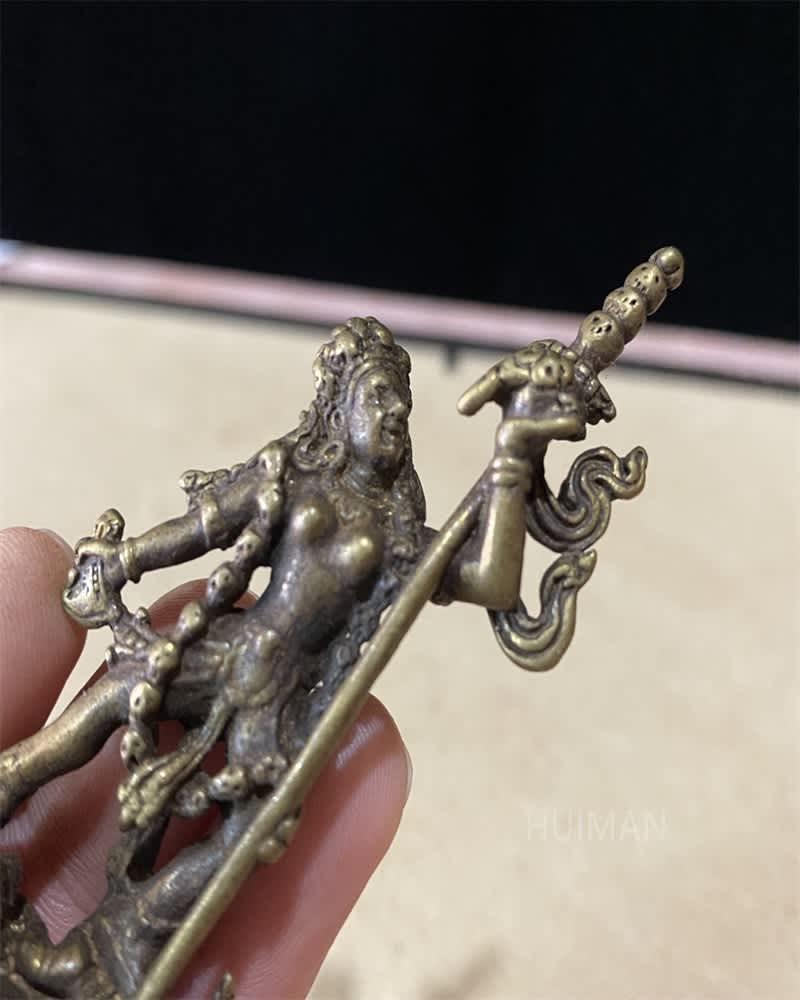 Estatua de Buda de latón chino, artesanía de Metal #2
