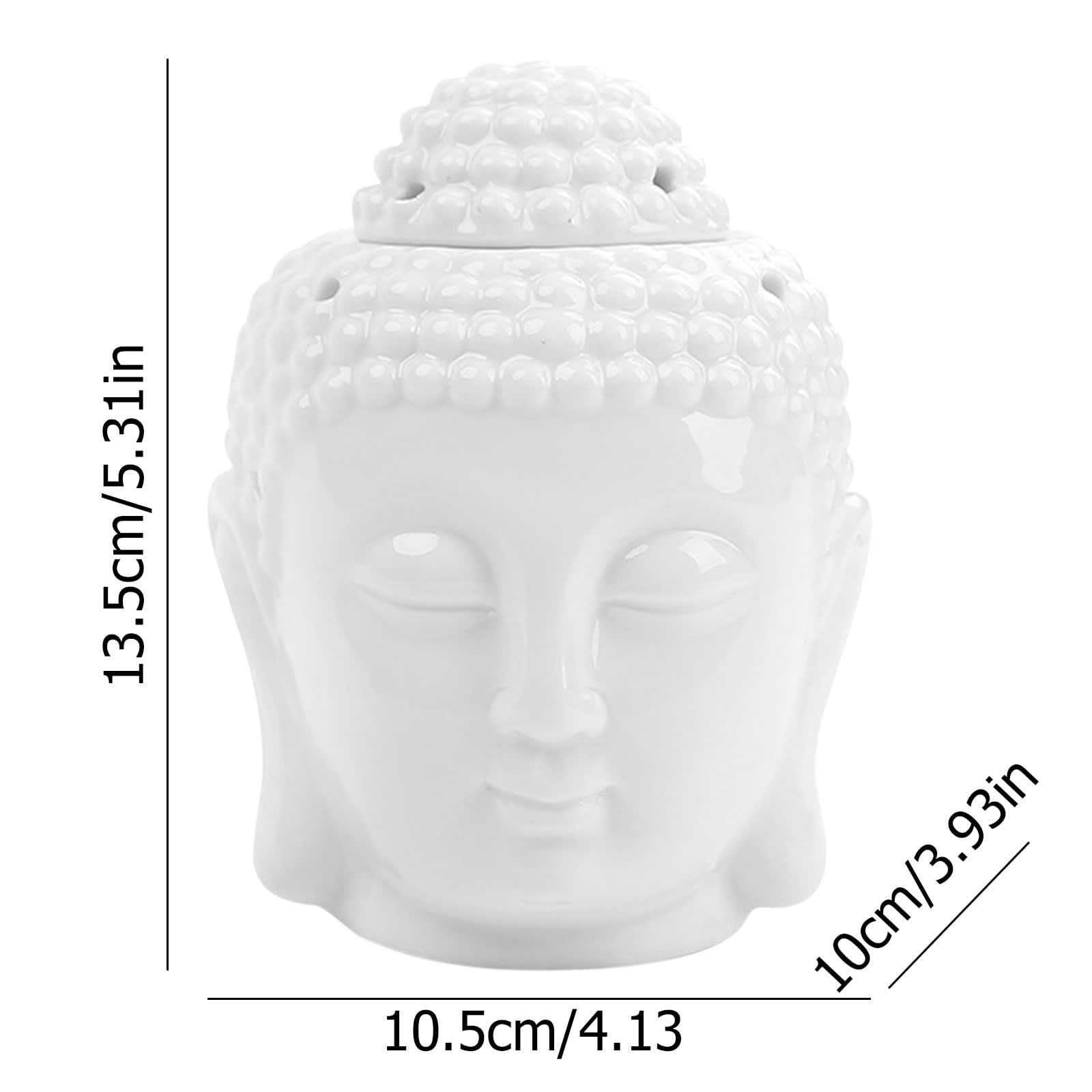 Adornos de cerámica para el hogar, quemador de vela de aceite, con cabeza de Buda, Zen, para aromaterapia
