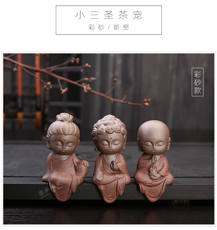 Decoración de Buda para mascotas, adornos de té para mascotas, accesorios de té de kung-fu