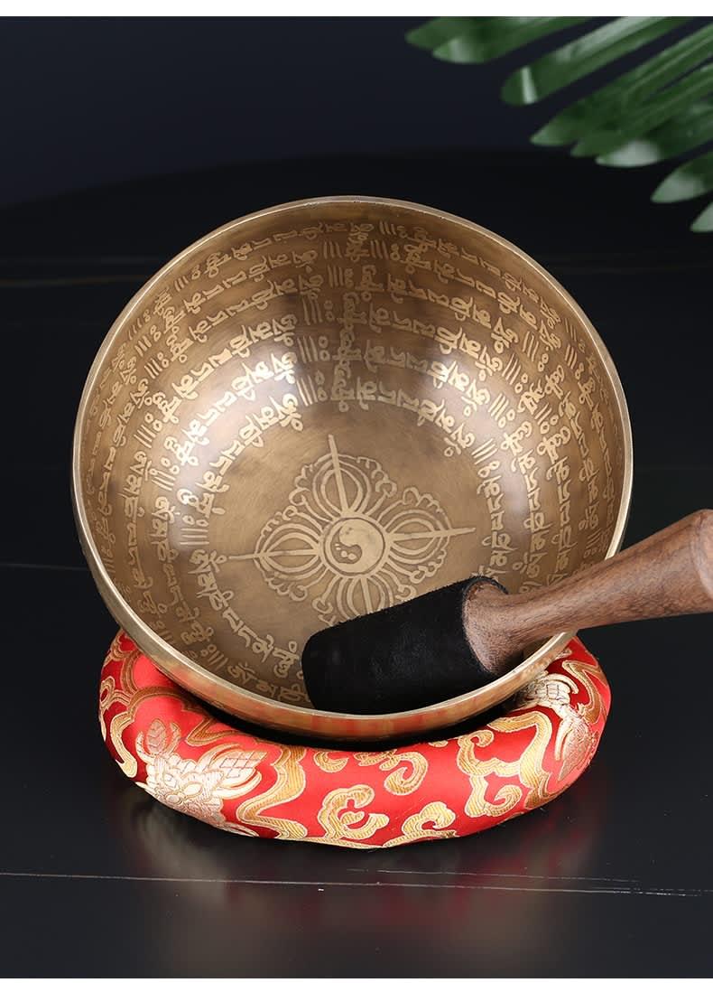Cuenco con sonido de Buda, cuenco con sonido de Buda, tibetano, para cantar, Yoga, meditación, cantar, Chime, terapia de música, hecho a mano en Nepal
