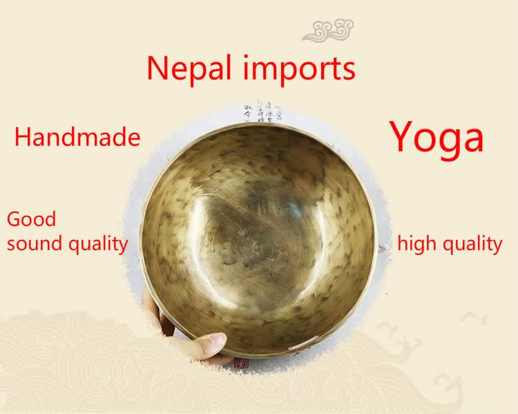 Cuenco de canto tibetano de latón de budista, cuenco de Canto de Yoga, platos de pared de meditación, decoración del hogar, budismo, 28CM
