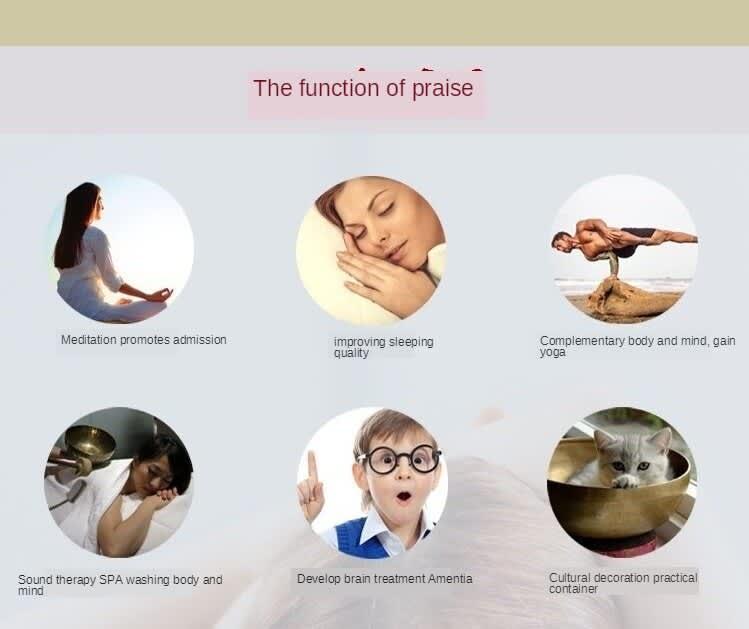 Cuencos Cantores de Chakra de luna llena tibetana, terapia de Yoga profesional con sonido OM, hecho a mano en Nepal, con cojines de seda y palos