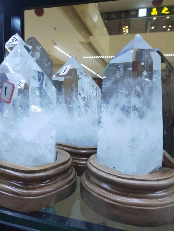 Cristal de cuarzo Mineral Natural puro de alta calidad, 100%, colección de gemas curativas, que contiene energía pura, PC, 1,2-1,3 KG