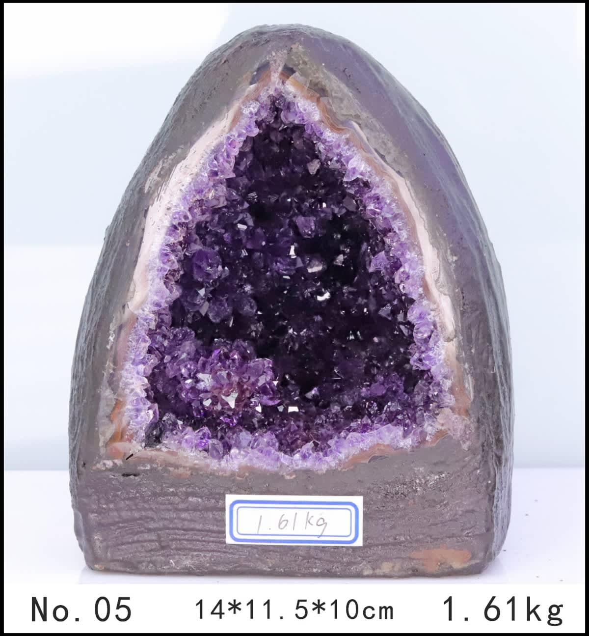 Amatista geoda Natural agujero racimo de cuarzo espécimen de cristal de sanación energética trueno huevo de desmagnetización de carga de energía