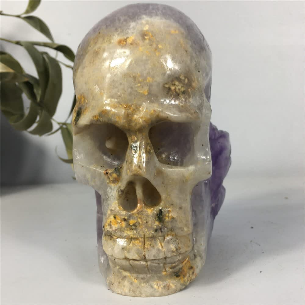 Piedras Naturales amatista calavera cristal espécimen curativo cuarzo crudo artesanías para decoración del hogar para regalo clúster