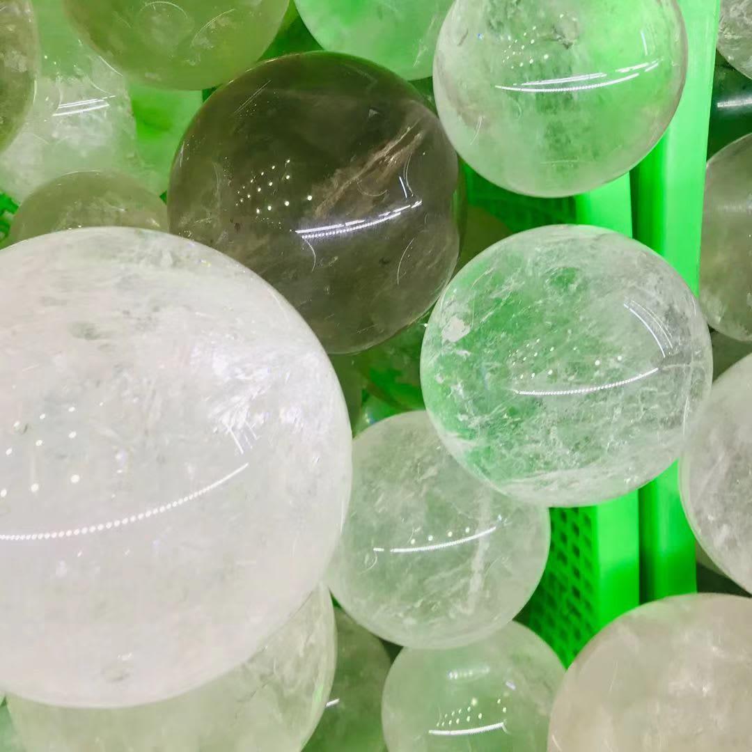 Esfera de cristal de cuarzo transparente Natural, esferas de 90mm-120mm para curación, 1 ud.