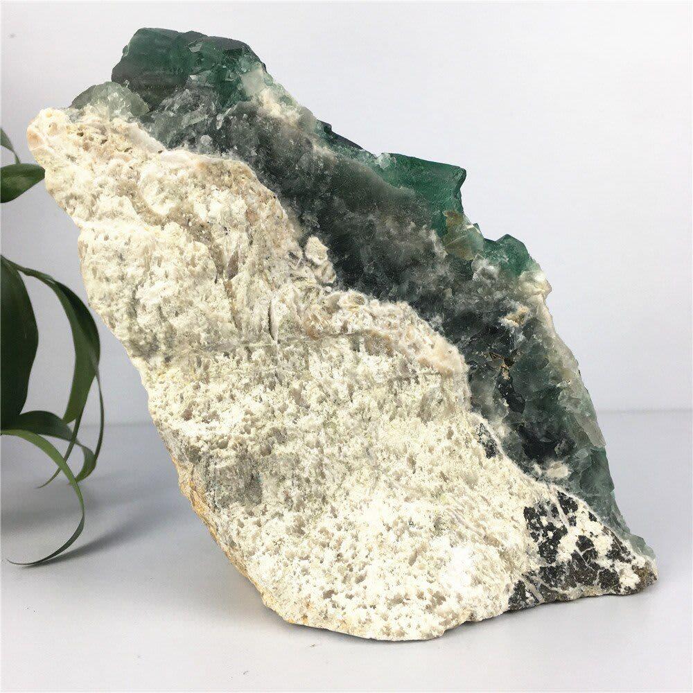 Racimo de piedras curativas de cuarzo Natural, piedras naturales de fluorita verde, artesanías para decoración del hogar para regalo