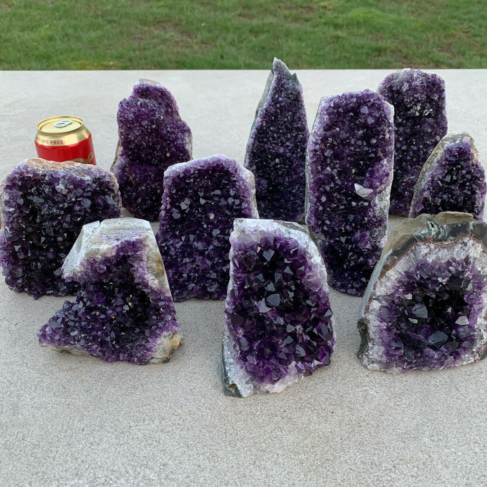 1pc 200-900g amatista geoda Natural de cuarzo espécimen de cristal de sanación de la energía