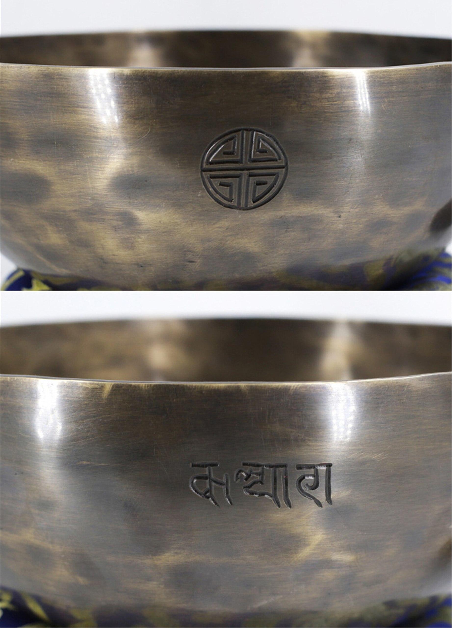 Juego de cuencos de canto tibetano de la luna llena de estilo clásico hecho a mano, juego de cuencos para meditación, chakras, mindful, curación del sonido, regalo