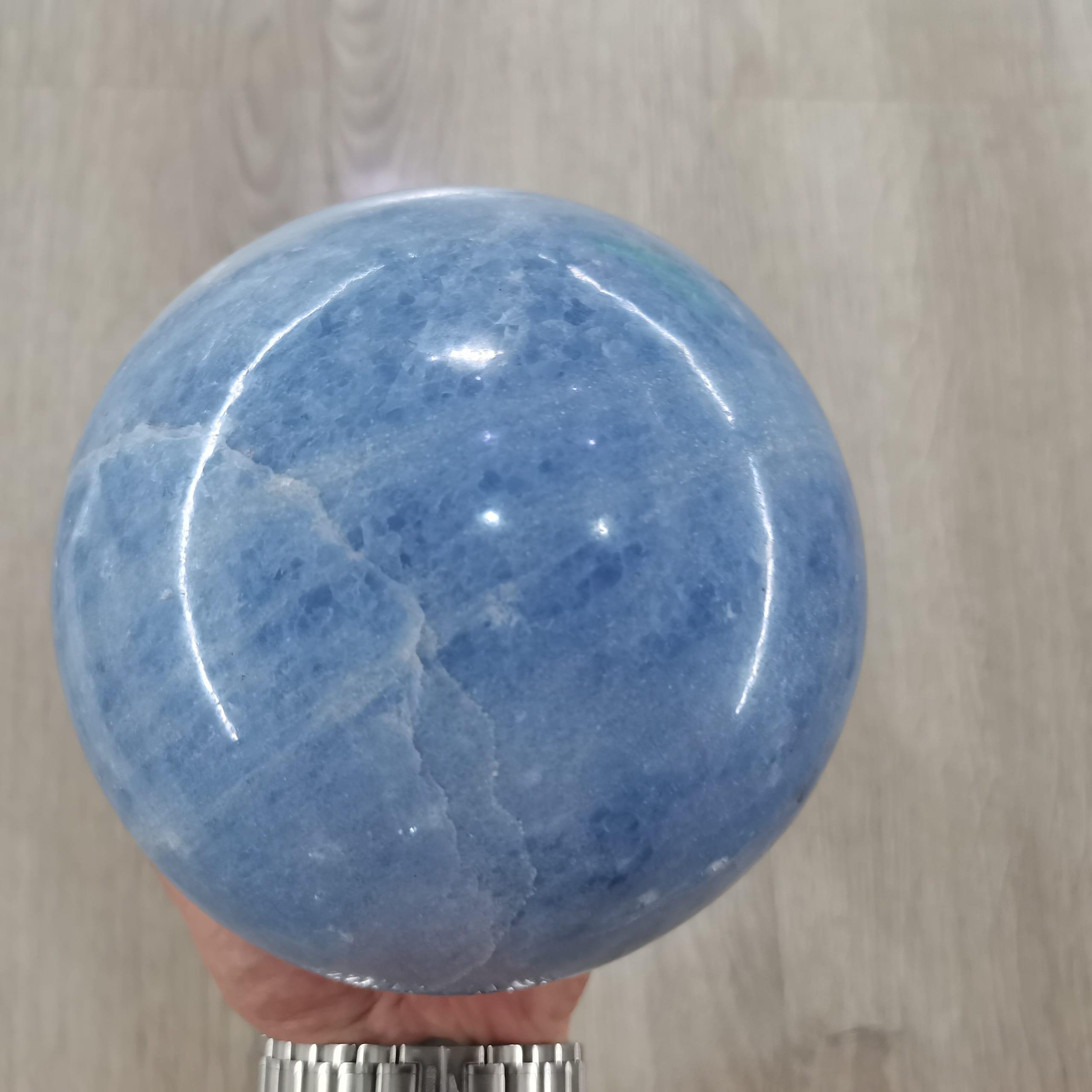 4,5 kg 1 Uds calidad Natural mástil azul bola Sanación Reiki gema de cuarzo para la decoración de la casa
