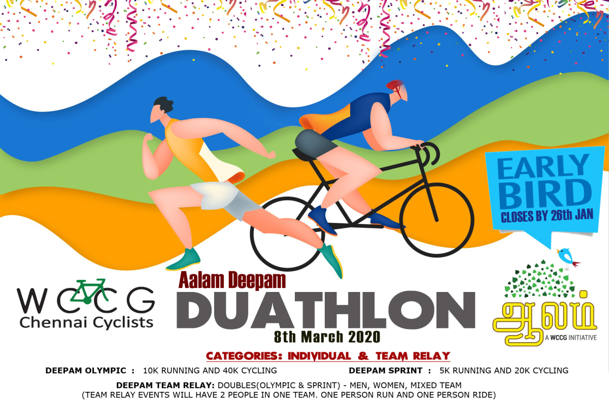wccg duathlon poster 2020