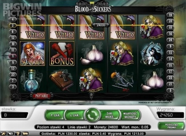 Blood suckers slot lines