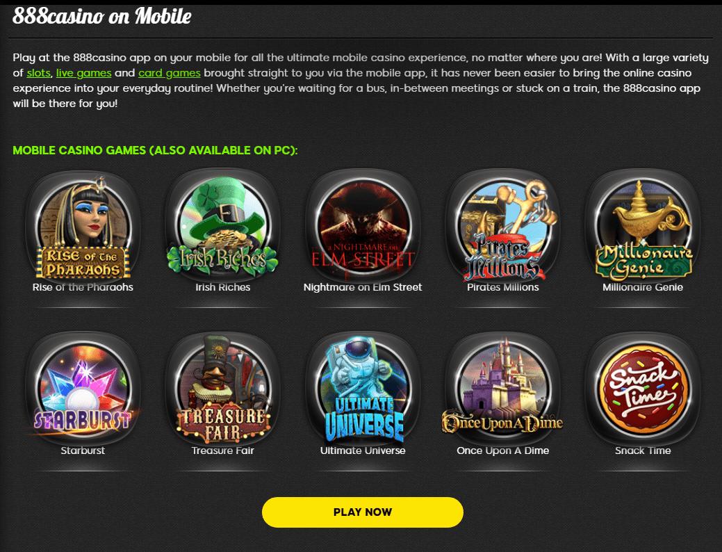 888 mobile casino