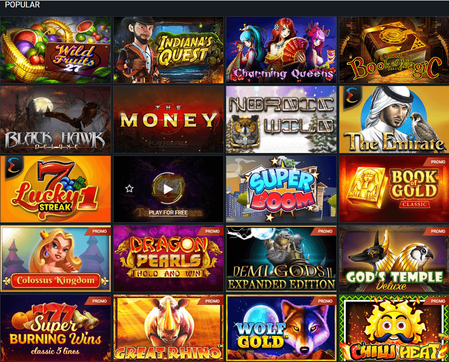 1xBet most popular slots and free spins