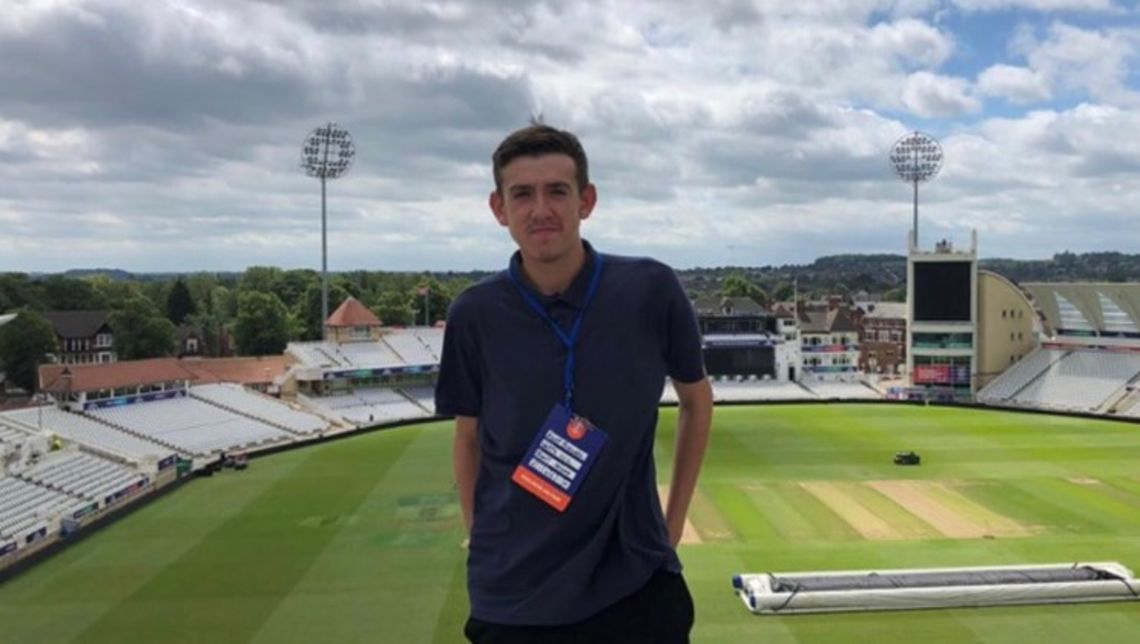 Riley Pickwell at the Nottinghamshire County Cricket Club