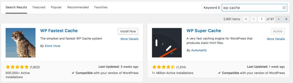 wordpress cache plugin - comment augmenter la rapidité d'un site?
