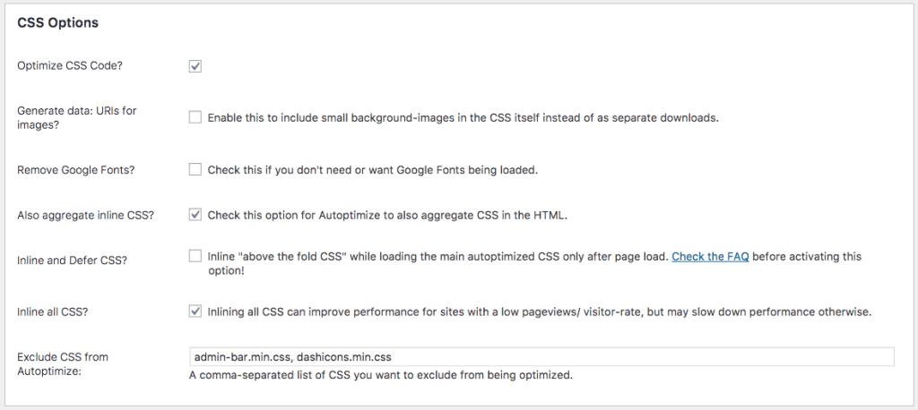 autoptimise css wordpress plugin