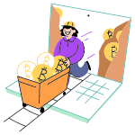 Bitcoin Mining 1 illustration - Free transparent PNG, SVG. No Sign up needed.