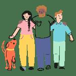 Walk Together 2 illustration - Free transparent PNG, SVG. No Sign up needed.