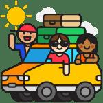 Vacation Car illustration - Free transparent PNG, SVG. No Sign up needed.