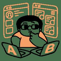 A B Testing illustration - Free transparent PNG, SVG. No Sign up needed.