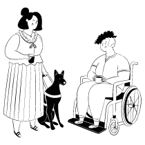 Disabled Inclusive Minorities illustration - Free transparent PNG, SVG. No Sign up needed.