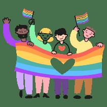 LGBT PRIDE illustration - Free transparent PNG, SVG. No Sign up needed.