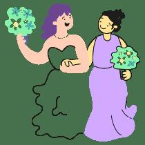 LGBT WEDDING 2 illustration - Free transparent PNG, SVG. No Sign up needed.