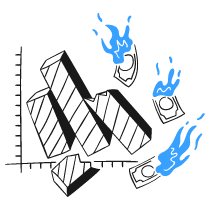 Business Graph Collapsing 1 illustration - Free transparent PNG, SVG. No Sign up needed.