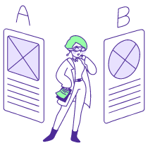 Ab Testing illustration - Free transparent PNG, SVG. No Sign up needed.