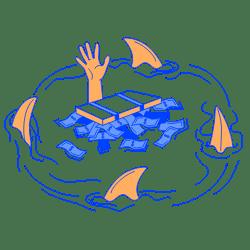Business Sharks illustration - Free transparent PNG, SVG. No Sign up needed.