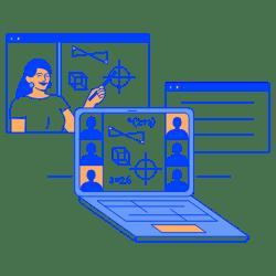 Online Learning illustration - Free transparent PNG, SVG. No Sign up needed.