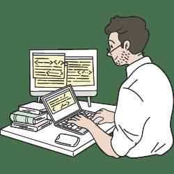 Coding A Website illustration - Free transparent PNG, SVG. No Sign up needed.