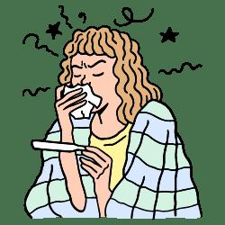 Being Sick illustration - Free transparent PNG, SVG. No Sign up needed.