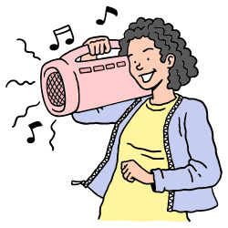 Boombox illustration - Free transparent PNG, SVG. No Sign up needed.