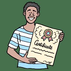 Certificate illustration - Free transparent PNG, SVG. No Sign up needed.