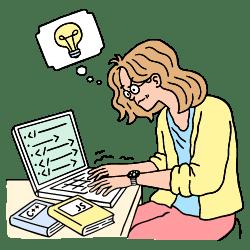 Code Learning illustration - Free transparent PNG, SVG. No Sign up needed.